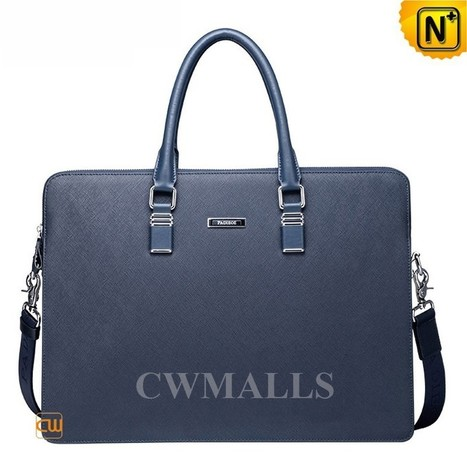 CWMALLS® Mens Blue Leather Briefcase Bag CW915091   Mens Business Bags   Scoop.it