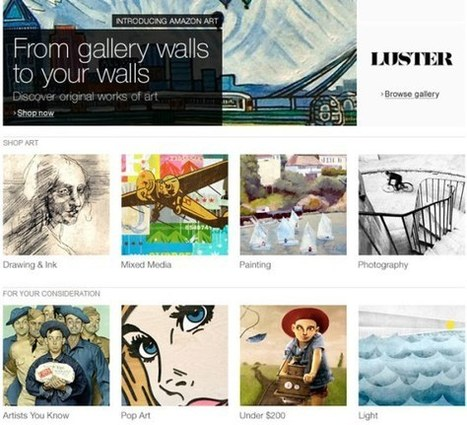 Amazon launches art marketplace with over 4,500 artists and 40,000 works   Social market place   Scoop.it