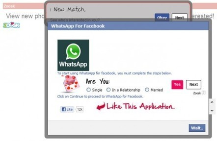 Attention à la fausse application WhatsApp sur Facebook