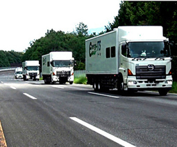 Self-driving trucks tested in Japan, form a close-knit convoy for fuel savings | leapmind | Scoop.it