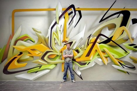 3D Graffiti Art by Daim | TrendsArt | Scoop.it