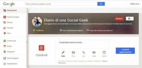 Pagine GooglePlus: arriva Google My Business   Notizie da Diario di una Social Geek   Scoop.it