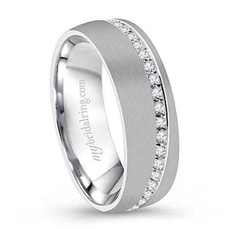 Mens Wedding Bands, White Gold Wedding Band, Custom Wedding Bands Los Angeles | Wedding Ring | Scoop.it