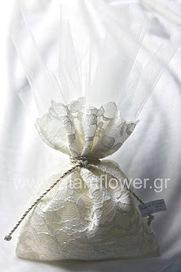 Γάμος | Βάπτιση | Στολισμός | Διακόσμηση: Μπομπονιέρα γάμου με Πουγκί δαντέλας | gamos | Scoop.it