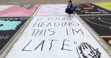 High School Seniors Paint Their Parking Spots And Their Art Goes Viral On Twitter | Edtech PK-12 | Scoop.it