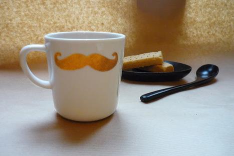mon ampersand: DIY : le mug à la moustache dorée | Moustaches | Scoop.it