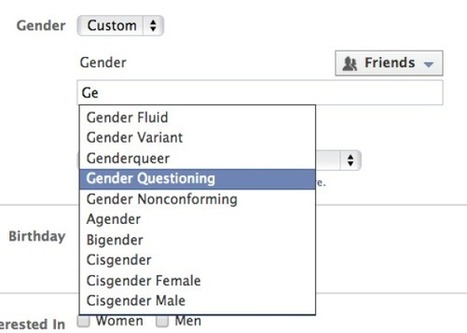 Facebook Now Offers Choice of 58 Genders | LGBPTQI & Asexualité | Scoop.it