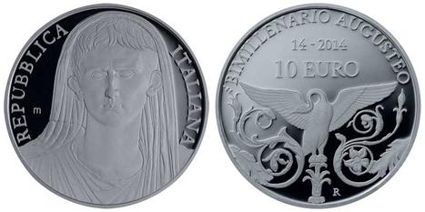 Moneda Italia 10€ 2014 - Bimilenario de la Muerte de Augusto | Mundo Clásico | Scoop.it