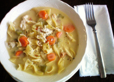 Craft-O-Maniac: {Crock Pot Creamy Chicken Noodle Soup} | The Slow Cooker Recipe Blog | Scoop.it