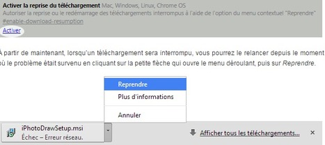 Reprendre un téléchargement interrompu sur Chrome   Time to Learn   Scoop.it