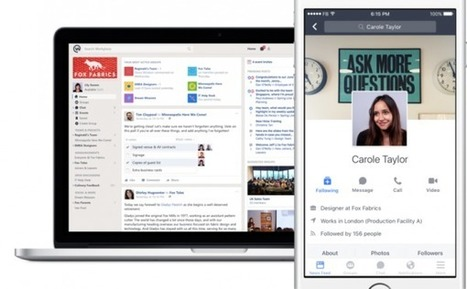 Facebook ouvre Workplace, un réseau social d'entreprise - Stratégies | Marketing in a digital world and social media (French & English) | Scoop.it