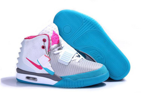 Women's Nike Air Yeezy 2 Sneakers Cheap Price-Red Wolf Grey Think Pink Blue | new and share style | Scoop.it