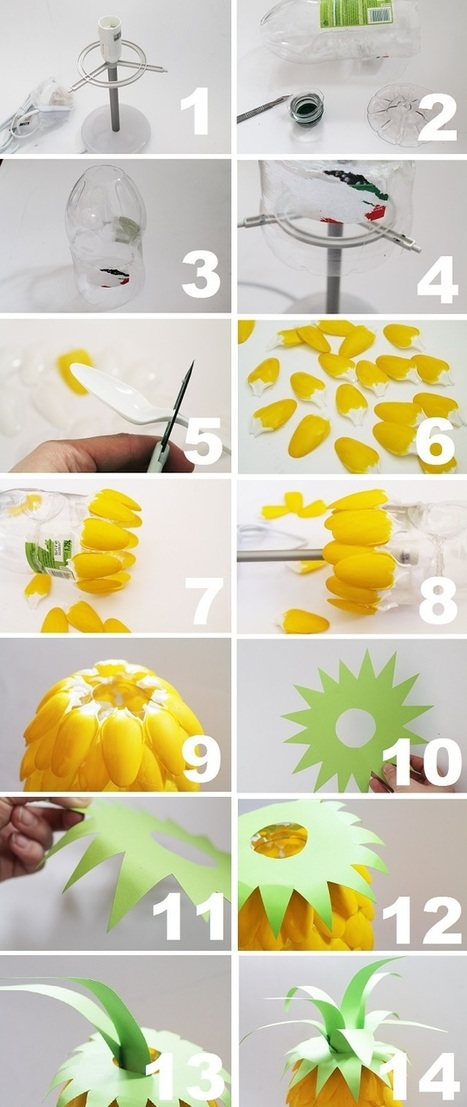 Now that's pretty: DIY Pineapple Lamp | Creative Cables and Lighting Design | Scoop.it