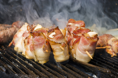 Bacon-Wrapped Halloumi Kabobs | American Food | Scoop.it