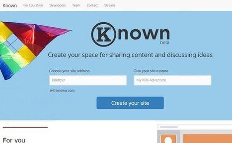 Known: crea una web para compartir audios, enlaces, fotos y publicaciones | AsesoriaWeb20 | Scoop.it