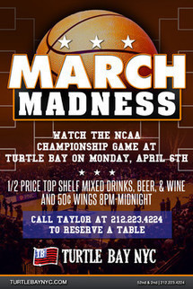 NCAA Championship Game Watch - Events | Turtle Bay NYC | Best Bars Midtown NYC | Scoop.it
