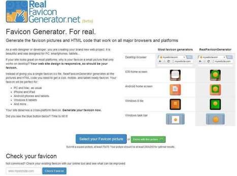 Compilation d'outils en ligne de création de Favicon | netnavig | Scoop.it