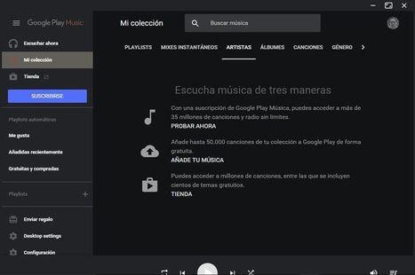 Genial reproductor de Escritorio para Google Play Music | ARTE, ARTISTAS E INNOVACIÓN TECNOLÓGICA | Scoop.it