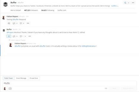 Buffer lance Respond : un outil de CRM pour Twitter - Blog du Modérateur | community management | Scoop.it