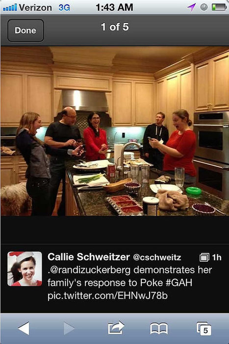 Noël chez les Zuckerberg, la photo volée qui régale Twitter | Dangers du Web | Scoop.it