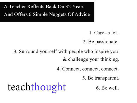 6 Simple Takeaways From 32 Years Of Teaching - TeachThought | Professional Learning for Busy Educators | Scoop.it