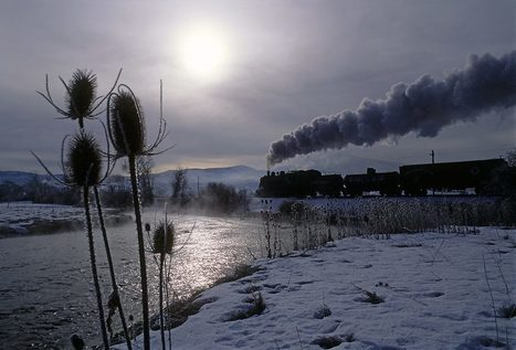 Trains Through Winter Landscapes | Green Landscapes | Amazing photography | Scoop.it