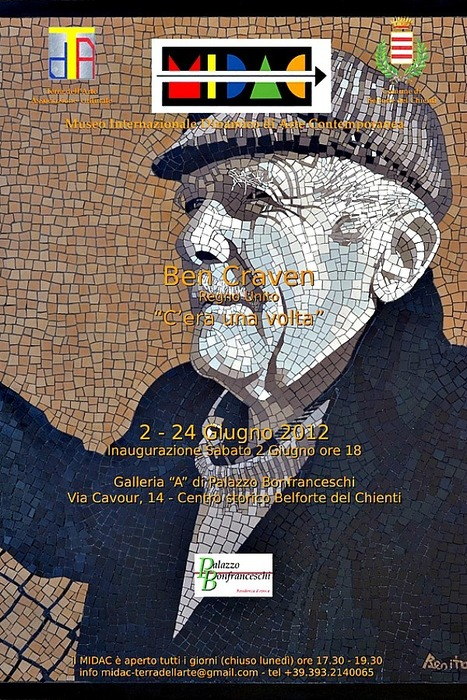 Acclaimed mosaic artist Ben Craven exhibits 'Once upon a time' at the Palazzo Bonfranceschi in Belforte del Chienti | Le Marche another Italy | Scoop.it