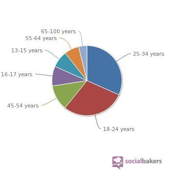 Répartition par âge des utilisateurs de Facebook en France (2012)   Réseaux sociaux et apprentissage des langues   Scoop.it