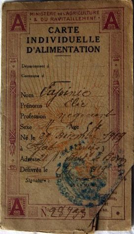 The French Genealogy Blog: A French Family's Ration Cards and What They Reveal About Names | GenealoNet | Scoop.it