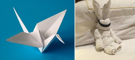 Hotel guest leaves origami for cleaning staff, back-and-forth folding battle ensues! | Notebook | Scoop.it