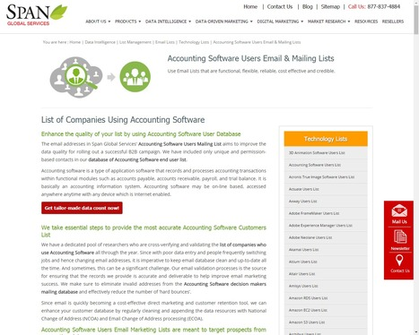 Buy Accounting Software using Companies from Span Global Services | Span Global Services | Scoop.it
