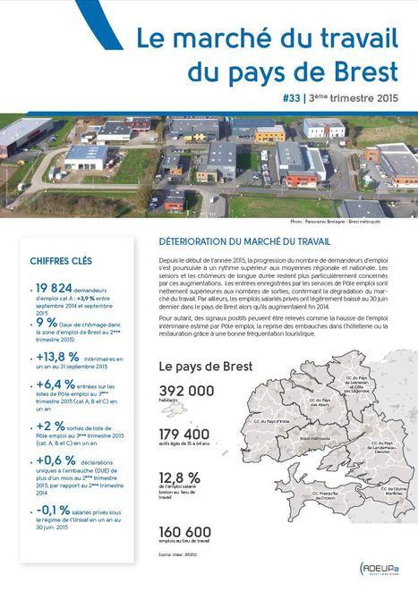 Détérioration du marché du travail - Le marché du travail du pays de Brest N°33 | Actualités et Publications de l'ADEUPa, de ses partenaires  et du réseau des agences d'urbanisme | Scoop.it