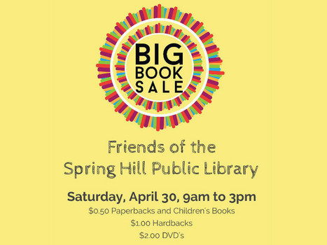 Spring Hill Library's Second Quarter Book Sale | Spring Hill FRESH - Keeping You in the Local Know! | Tennessee Libraries | Scoop.it