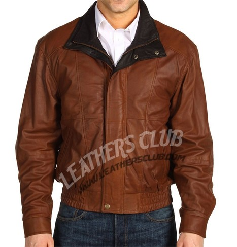 Scully Featherlite Double Collar Slimfit Bomber Jacket   Men's Leather Jackets   Scoop.it