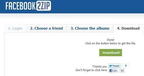 Facebook2zip: récupérer vos albums photo de facebook et ceux de vos amis | lilie2711 | Scoop.it