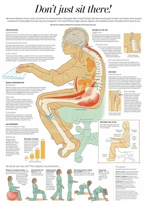 This Graphic Explains All the Health Hazards of Sitting for Too Long | School Leadership, Leadership, in General, Tools and Resources, Advice and humor | Scoop.it