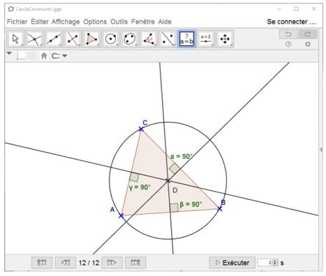 Tutoriels : géométrie au collège avec GeoGebra | ENT | Scoop.it