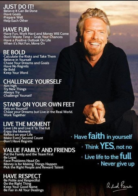 Richard Branson: His philosophy on success | The Principal's Page | Scoop.it