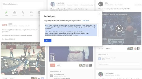 Google+ Rolls Out Embedded Posts Content Creators Can Embed Posts On Other Sites | Internet Billboards | Content Marketing Tips | Scoop.it