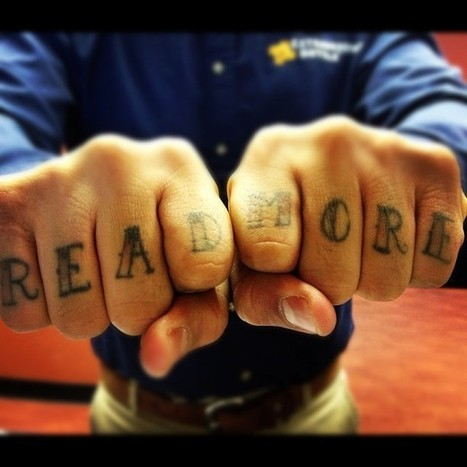 The Most Literary Knuckle Tattoo - GalleyCat | Writing for Social Media | Scoop.it