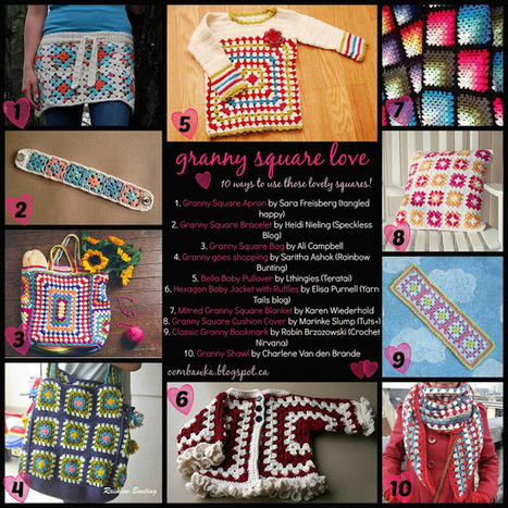Granny Square Love - Free Pattern Round Up! | crochet | Scoop.it