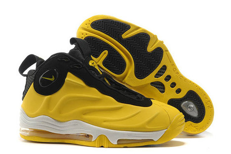 mens nike air total foamposite max bright yellow and black white basketball shoes | want and share | Scoop.it