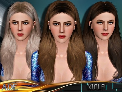 Ade - Viola hair for TS3 by The Sims Resource | Sims 3 Downloads | Scoop.it