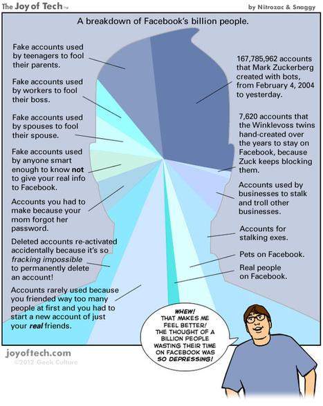 La mayor parte de los 1.000 millones de usuarios de Facebook son falsos [Cómic]   #DIRCASA - Automatización, Calor y Control   Scoop.it