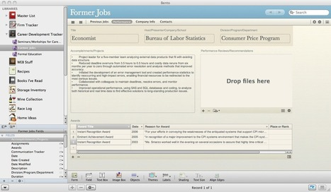 Career Development Tracker Template for Bento from Filemaker | Career-Life Development | Scoop.it