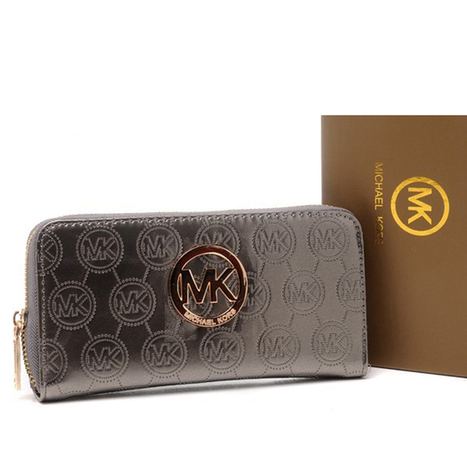 Michael Kors Jet Set Continental Logo Large Grey Wallet | new and fashion list | Scoop.it