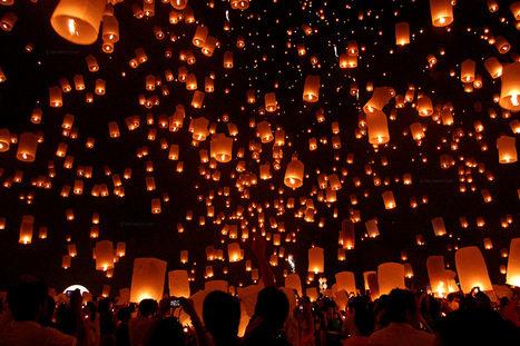Thailand: Lantern festival in Chiang Mai | Wicked! | Scoop.it