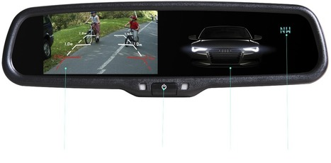 4.3 inch car rearview mirror monitor,AK-043LA | Car Rear View Mirror | Scoop.it