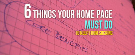 HOME PAGE - 6 Things Your Home Page Must Do | Learning Support | Scoop.it