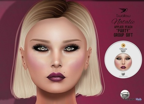 Natalie Peach Party Catwa Head Applier Group Gift by Swallow | Teleport Hub - Second Life Freebies | Second Life Freebies | Scoop.it